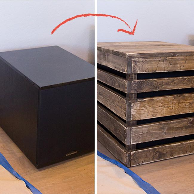 DIY Sub Boxes  DIY Wood Side Table Subwoofer Enclosure