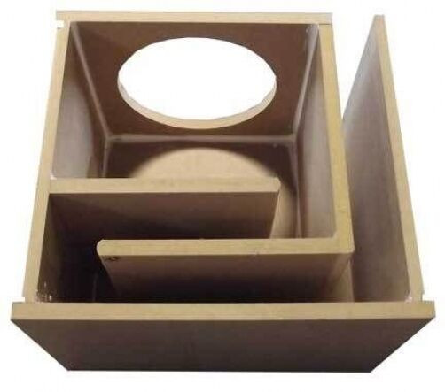 "DIY Sub Boxes  Obcon Single 10"" Labyrinth Slot Vent Port MDF Subwoofer"