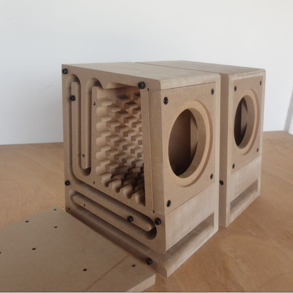 DIY Sub Boxes  Maze Maze fever assembly speaker empty cabinet 4 inch