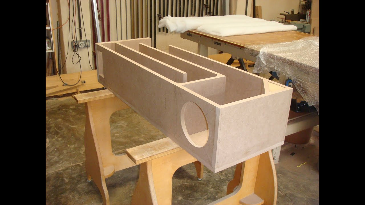 DIY Sub Boxes  DIY Casavant Transmission Line Powered Subwoofer with