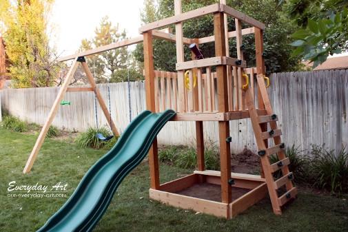 DIY Swing Set Plans  Everyday Art DIY Wooden Swing Set