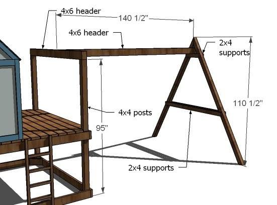 DIY Swing Set Plans  Ana White