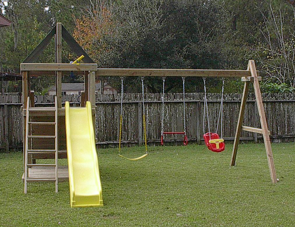 DIY Swing Set Plans  Do It Yourself Wooden Swing Set Plans