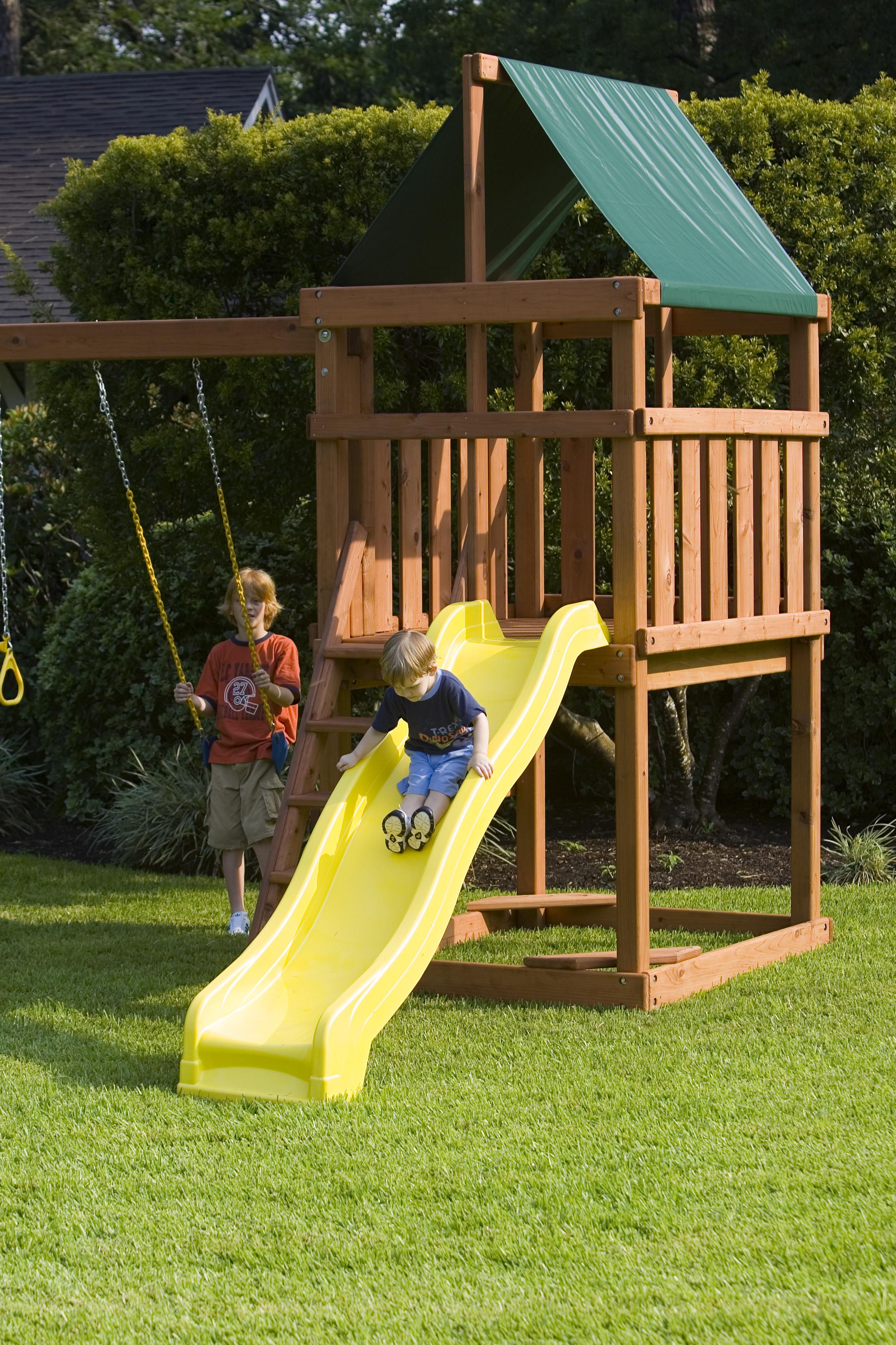 DIY Swing Set Plans  Endeavor Playset DIY Fort and Swingset Plans