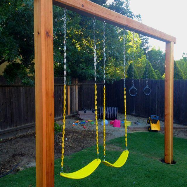 DIY Swing Set Plans  Image result for 6x6 post swing set