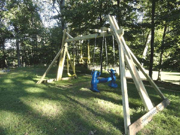 DIY Swing Set Plans  34 Free DIY Swing Set Plans for Your Kids Fun Backyard