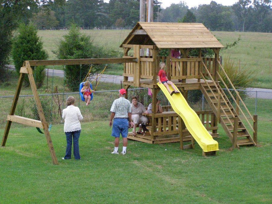 DIY Swing Set Plans  DIY Playhouse Swing Set Plans Plans Free