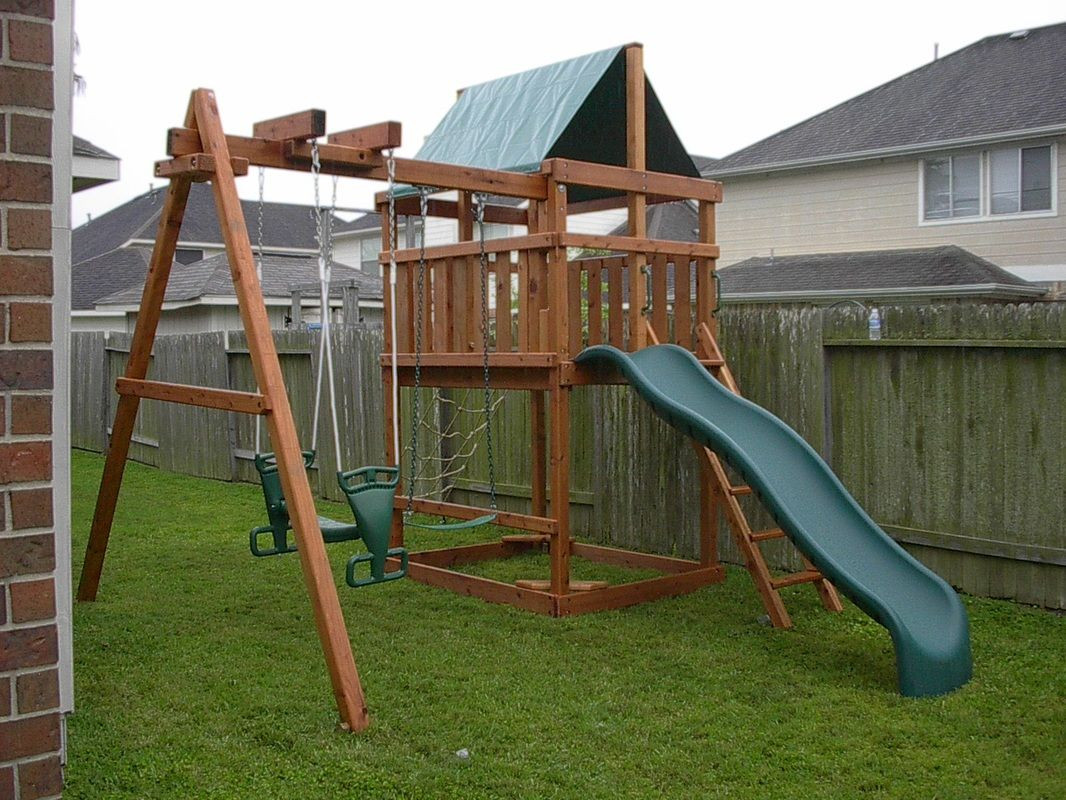 DIY Swing Set Plans  How to Build DIY Wood Fort and Swing Set Plans From Jack s