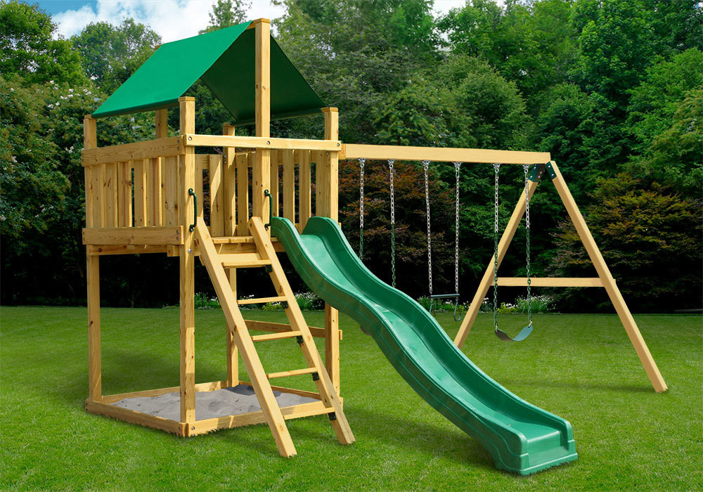 DIY Swing Set Plans  Discovery Fort with Swing Set DIY Kit SwingSetMall