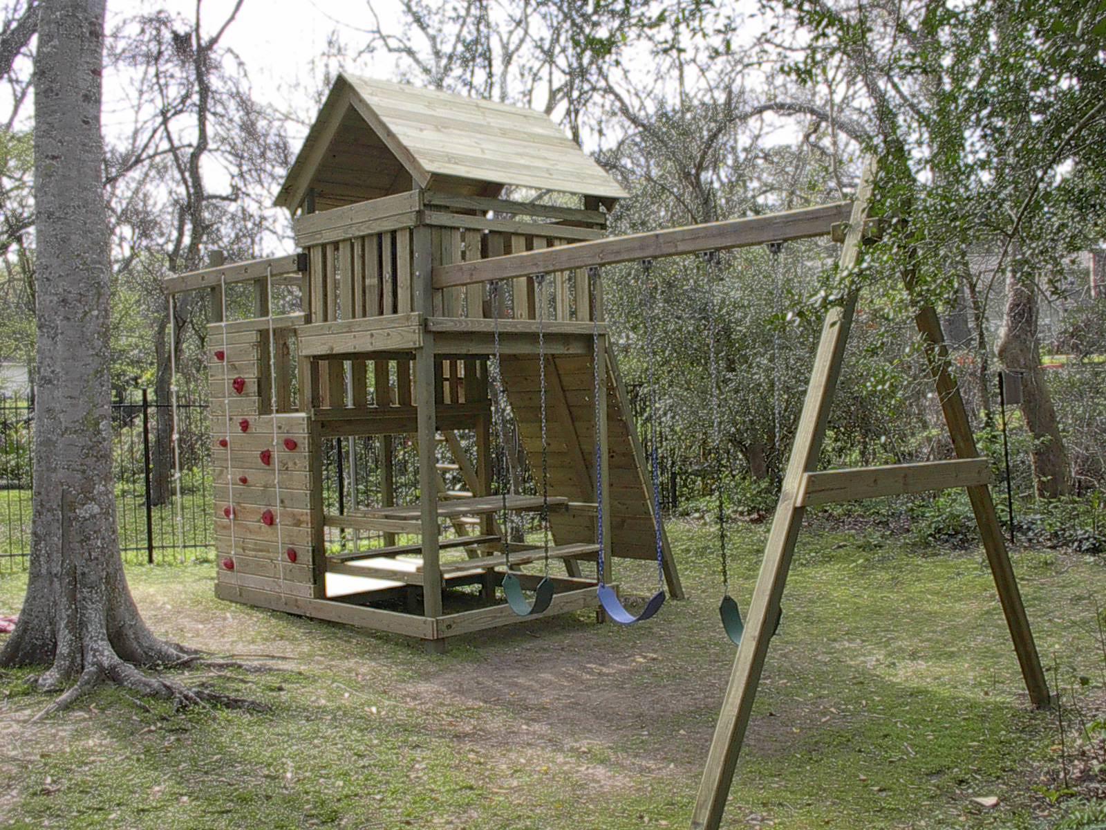 DIY Swing Set Plans  Gemini Playset DIY Wood Fort and Swingset Plans