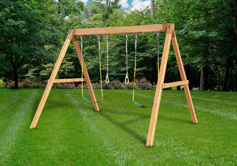 DIY Swing Set Plans  Free Standing Swing Beam with Swings DIY Kit