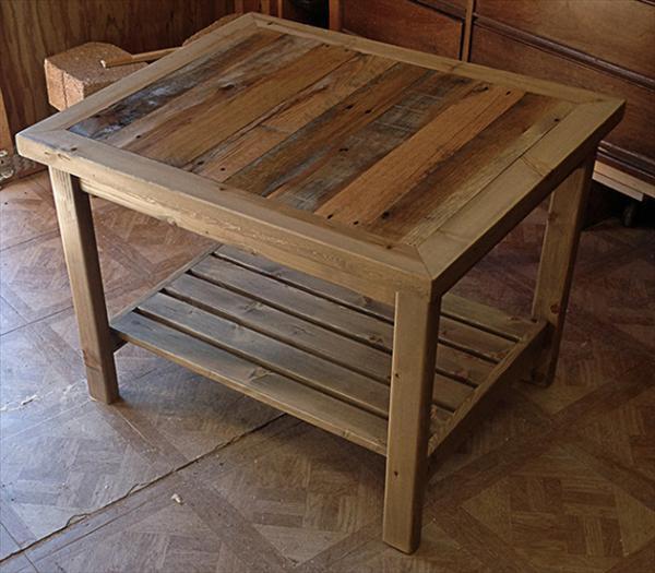 DIY Table Plan  DIY Pallet Table And Coat Rack