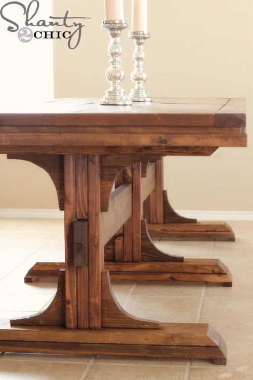 DIY Table Plan  Restoration Hardware Inspired Dining Table for $110