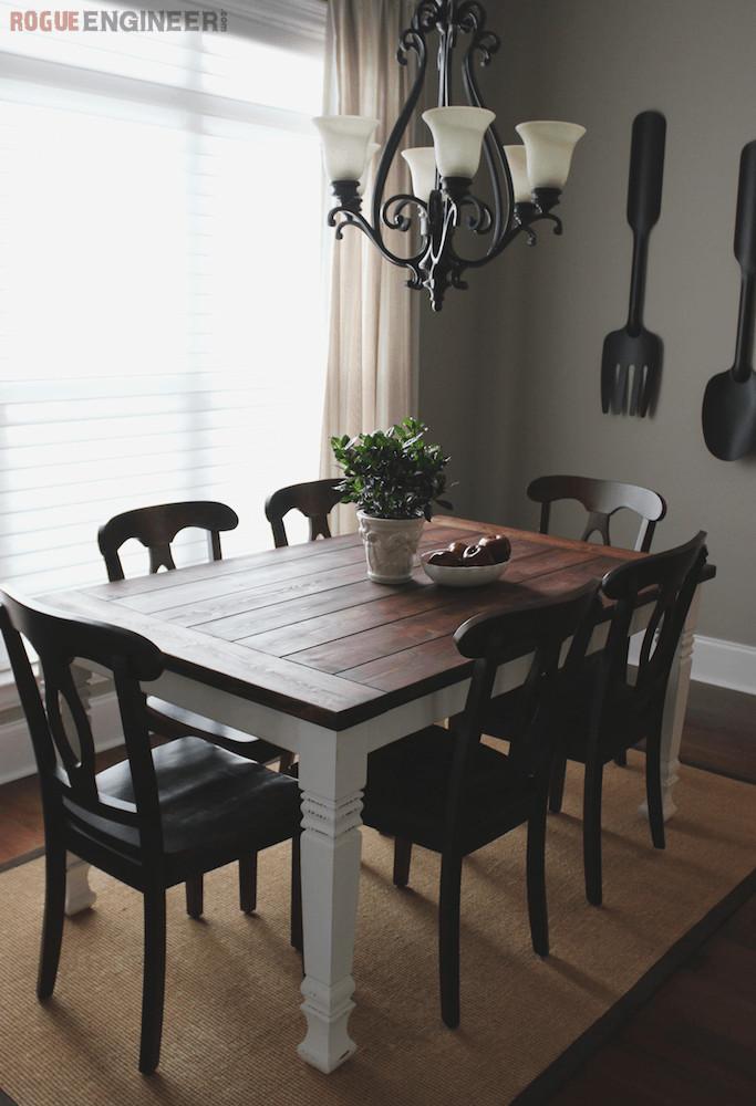 DIY Table Plan  DIY Farmhouse Table Free Plans