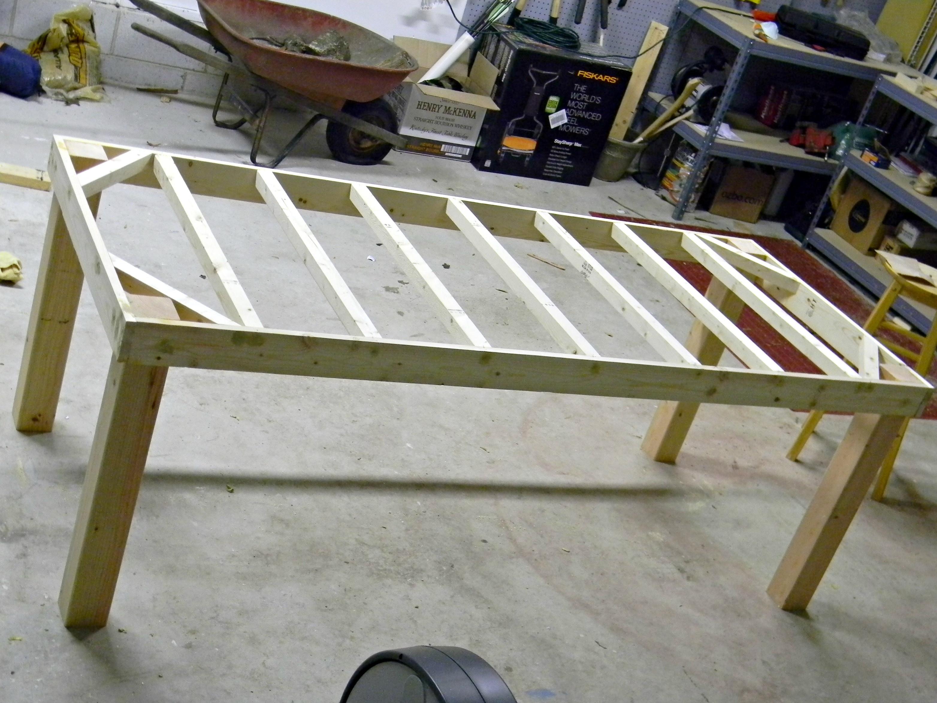 DIY Table Plan  Woodwork Farm Table Plans Drawings PDF Plans