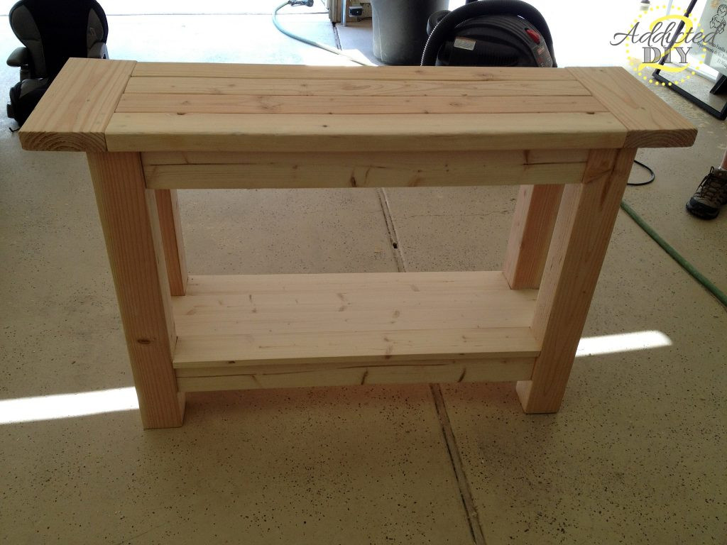 DIY Table Plan  Pottery Barn Inspired Console Table Addicted 2 DIY