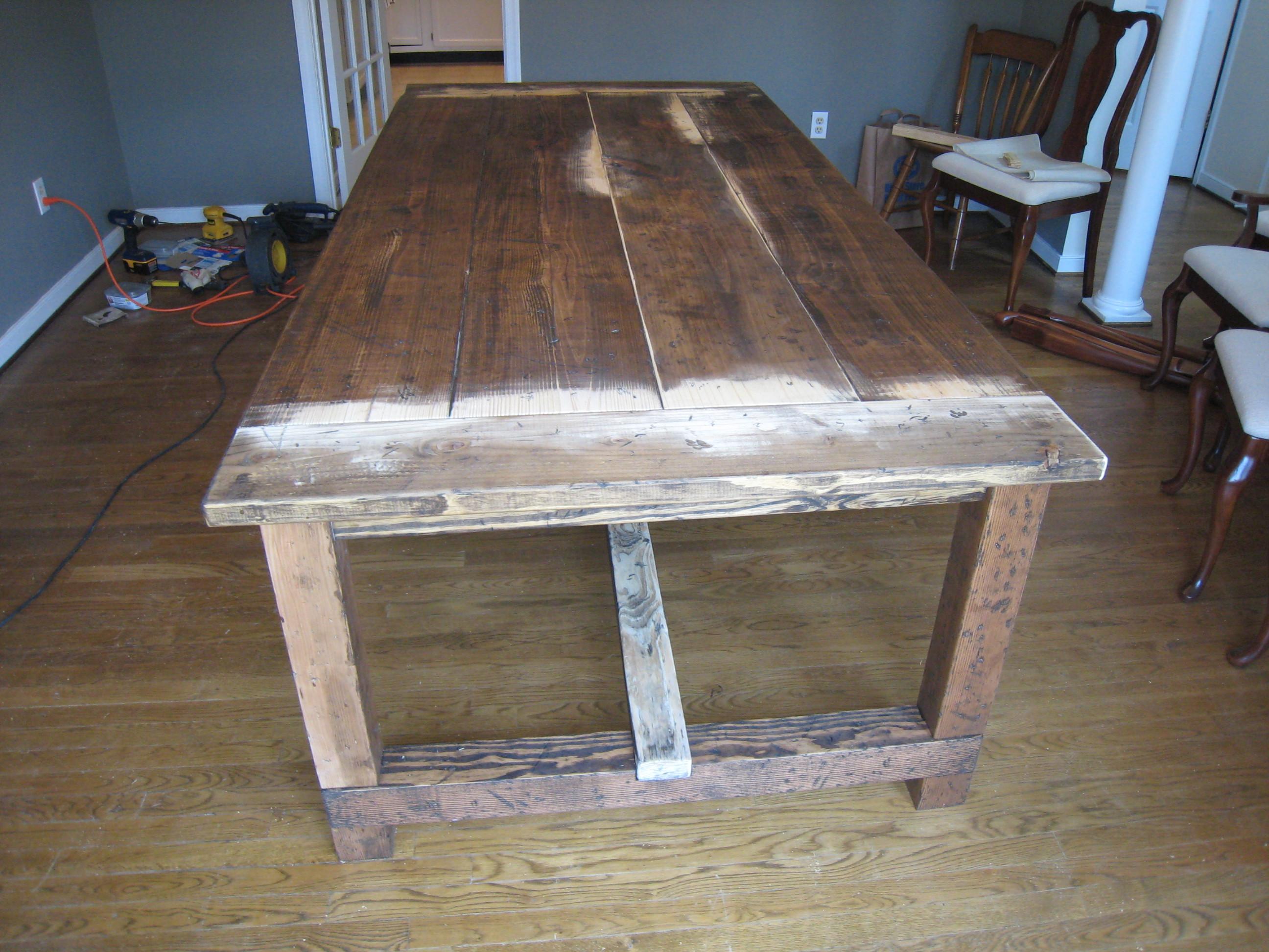 DIY Table Plan  Farmhouse Table Details Tommy & Ellie