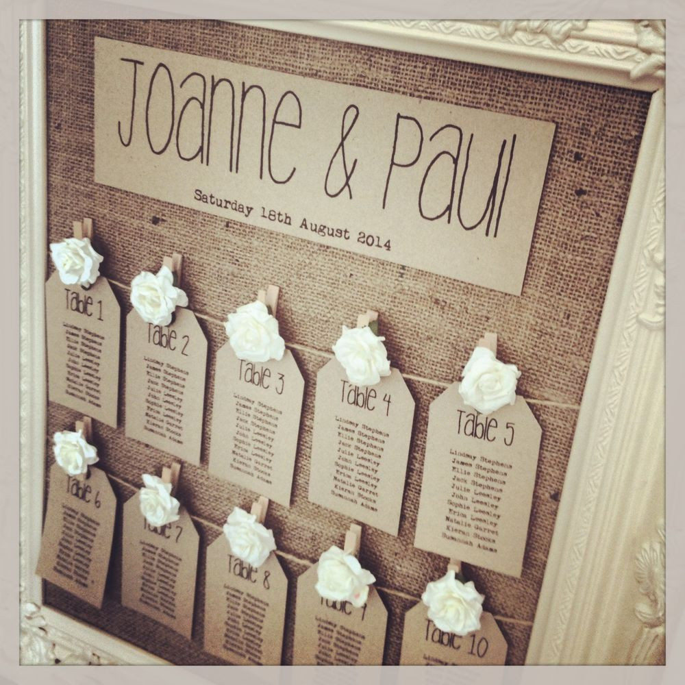 DIY Table Planners  Finishing Touches – Table Plan Inspiration