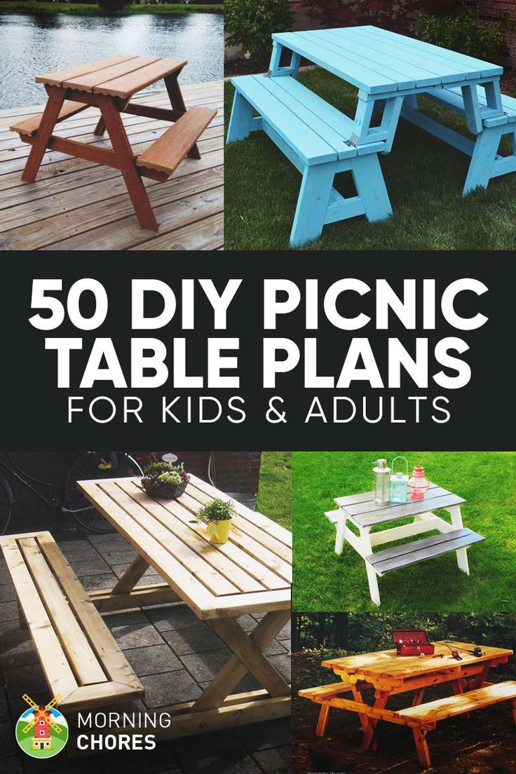 DIY Table Planners  Best 25 Picnic table plans ideas on Pinterest