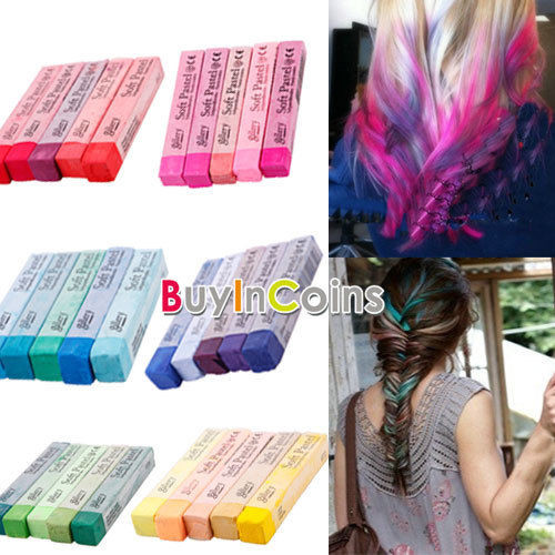 DIY Temporary Hair Dye  5 Color Pink Purple Red Green Blue Non toxic Temporary