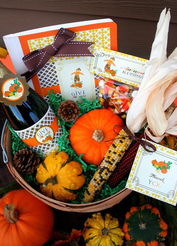 DIY Thanksgiving Gifts  Thanksgiving DIY Gratitude Gift Basket Party Ideas