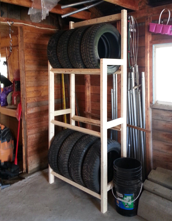DIY Tire Rack  How to Store Tires in the Garage GarageSpot