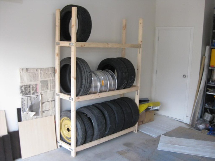 DIY Tire Rack  homemade tire rack For the Home
