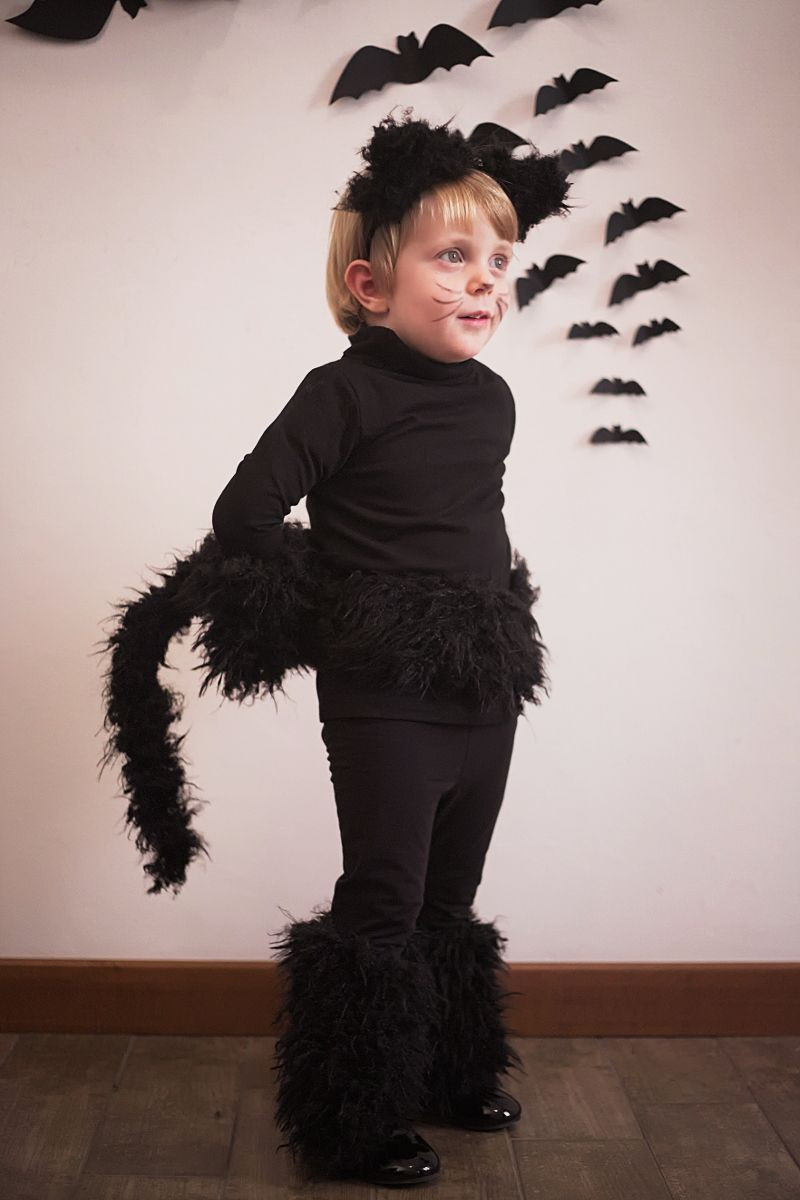 DIY Toddler Cat Costume  Halloween kids costumes black cat part I