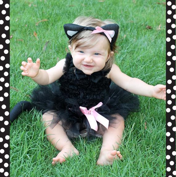 DIY Toddler Cat Costume  Black Cat Costume Tutu Baby Girl Halloween Costume Girl Cat