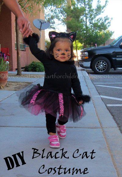 DIY Toddler Cat Costume  Best 25 Black cat costumes ideas on Pinterest