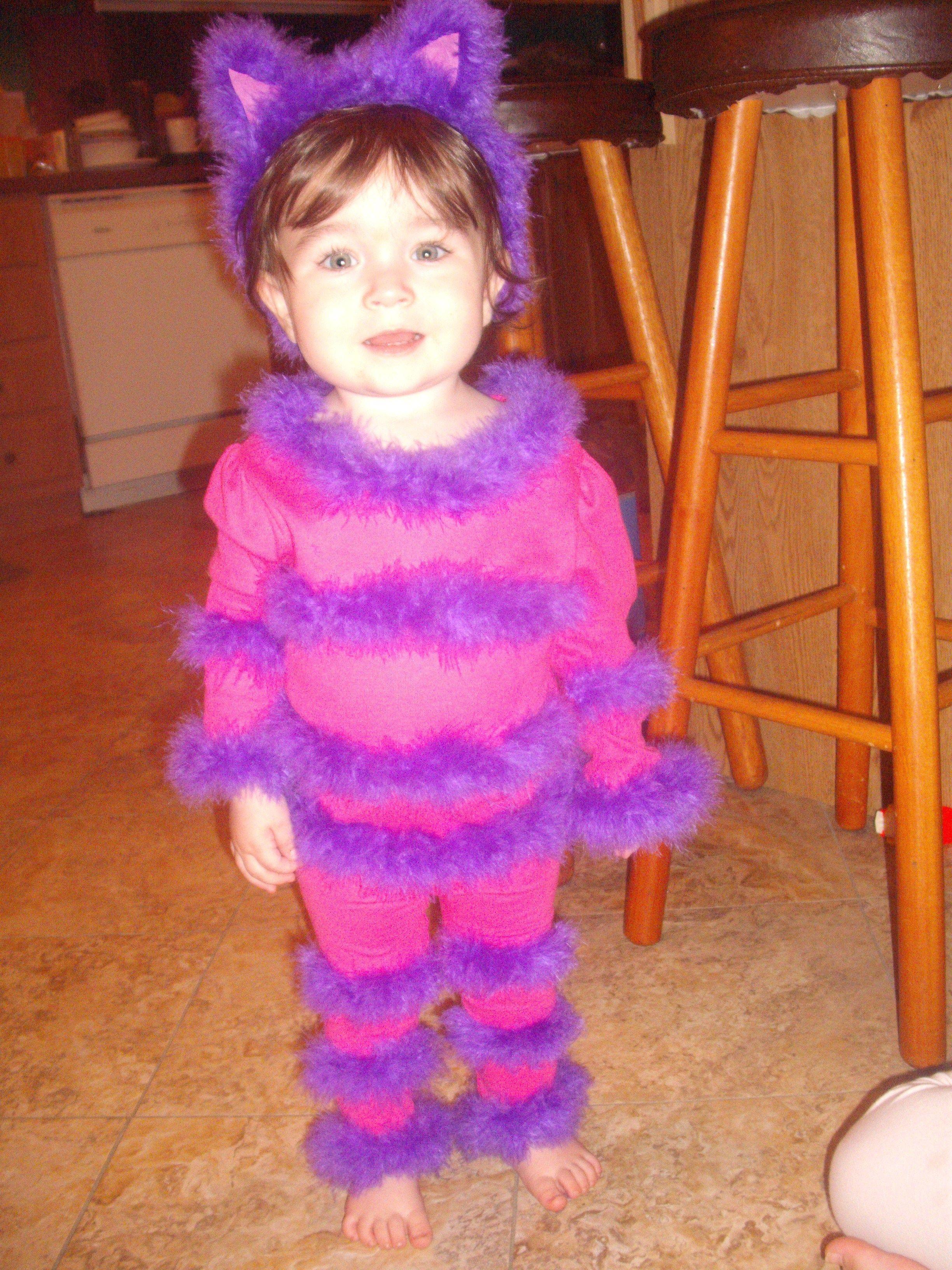 DIY Toddler Cat Costume  DIY Children Cheshire Cat Costume pant & shirt set 4 yds