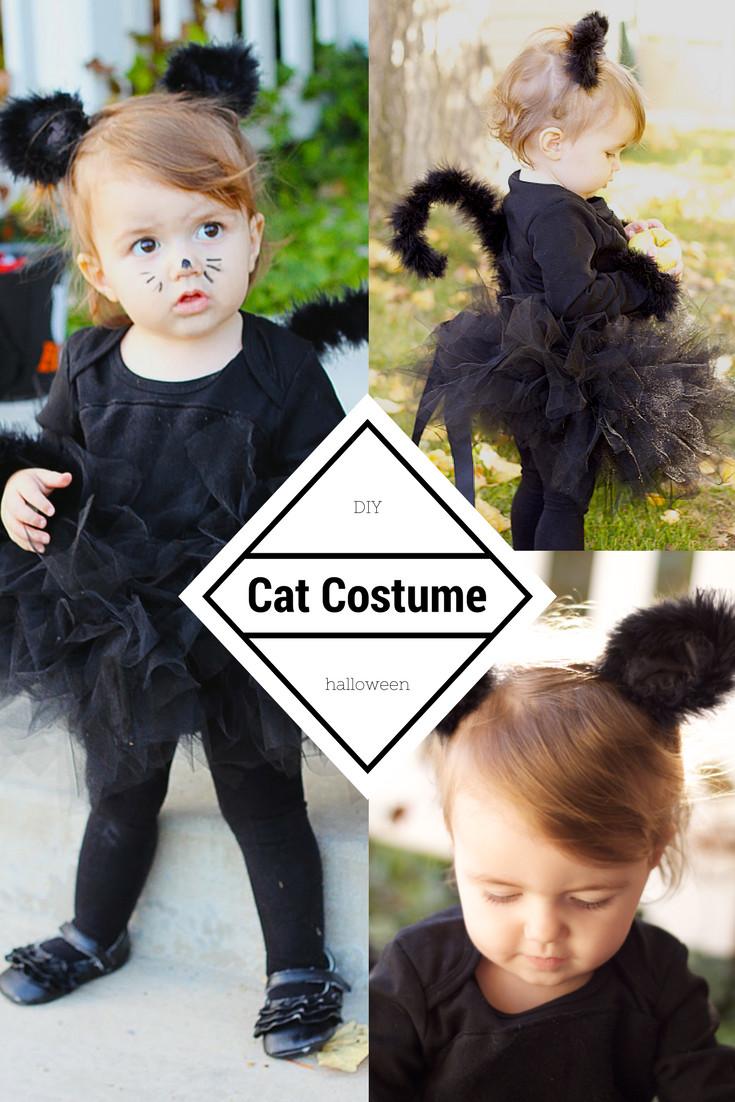 DIY Toddler Cat Costume  do it yourself divas DIY Black Cat Costume