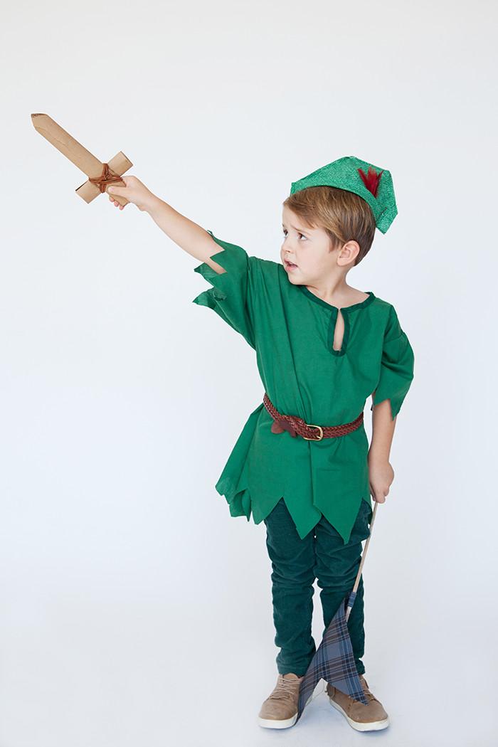 DIY Toddler Peter Pan Costume  Halloween Family Costumes Peter Pan Say Yes