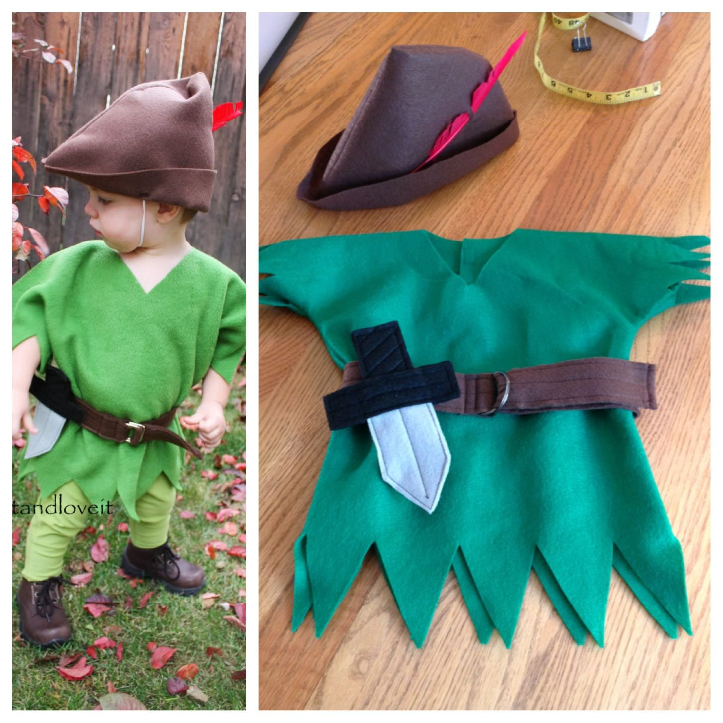 DIY Toddler Peter Pan Costume  Kids Peter Pan costume Sewing Pinterest
