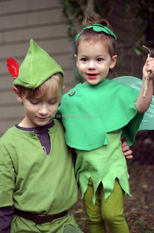 DIY Toddler Peter Pan Costume  Tinkerbell Peter Pan