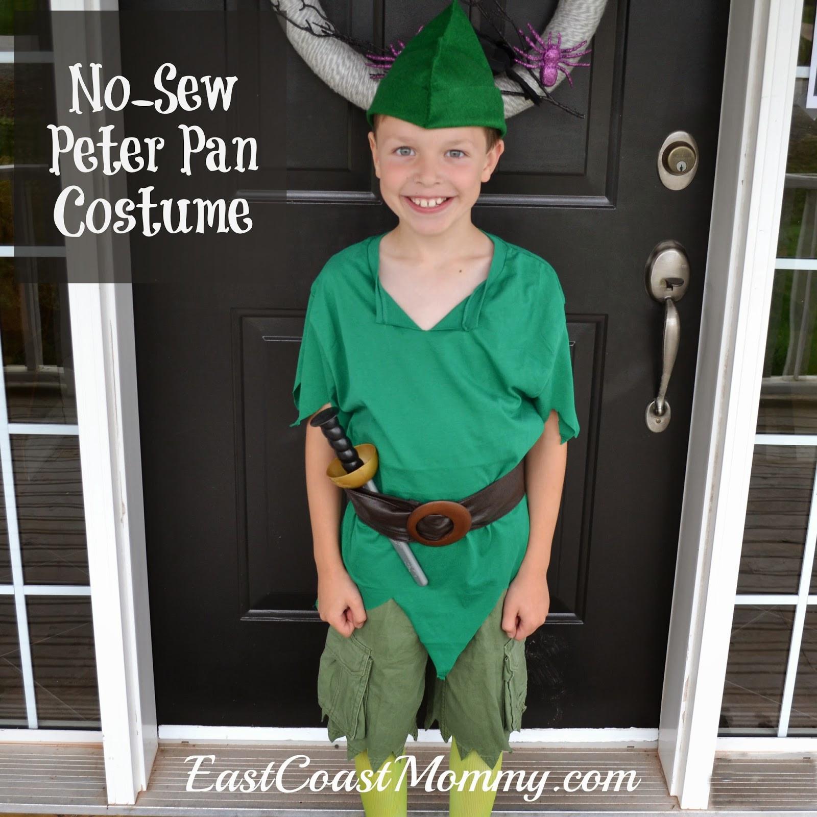 DIY Toddler Peter Pan Costume  East Coast Mommy DIY Peter Pan Costume