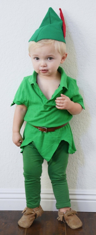 DIY Toddler Peter Pan Costume  30 Quick & Easy DIY Halloween Costumes For Kids Boys