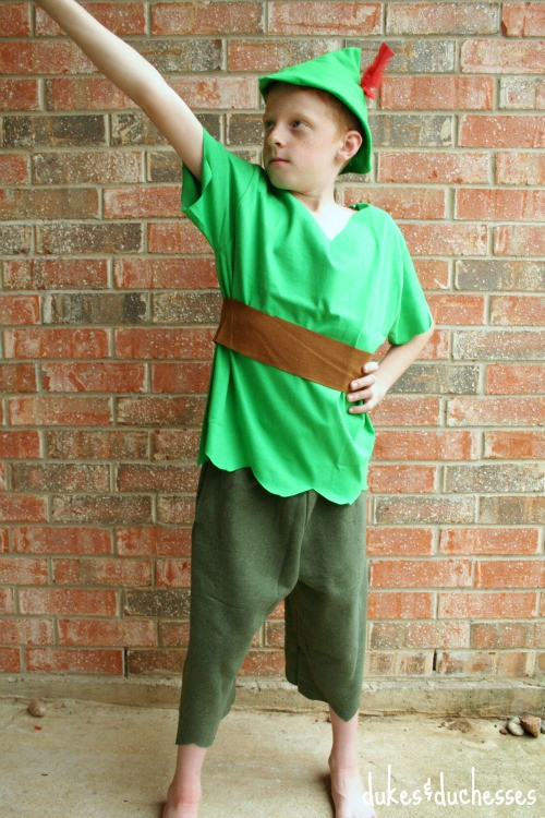 DIY Toddler Peter Pan Costume  No Sew Peter Pan Costume Dukes and Duchesses
