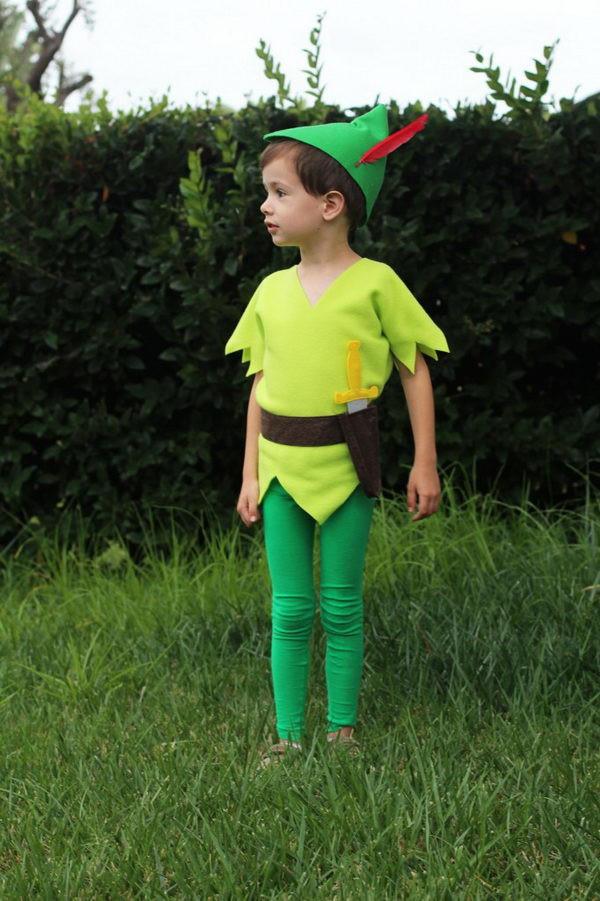 DIY Toddler Peter Pan Costume  30 Cool Peter Pan and Tinkerbell Costumes
