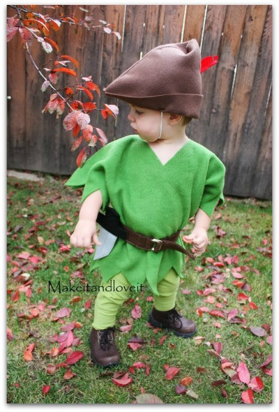 DIY Toddler Peter Pan Costume  DIY Halloween costumes for the Whole Family The Kennedy