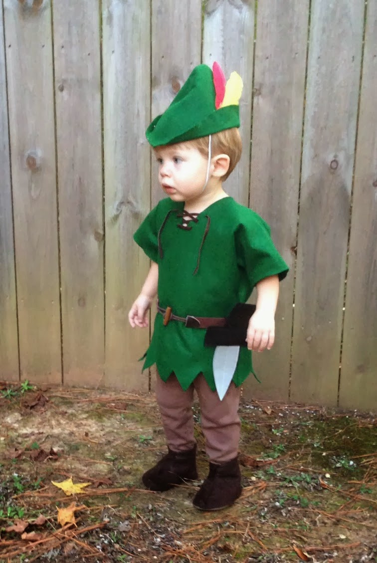 DIY Toddler Peter Pan Costume  live a little wilder a peter pan halloween