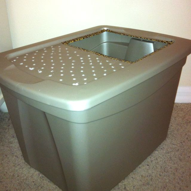 DIY Top Entry Litter Box  Pin by Gaylene Karnes on PETS & ANIMALS