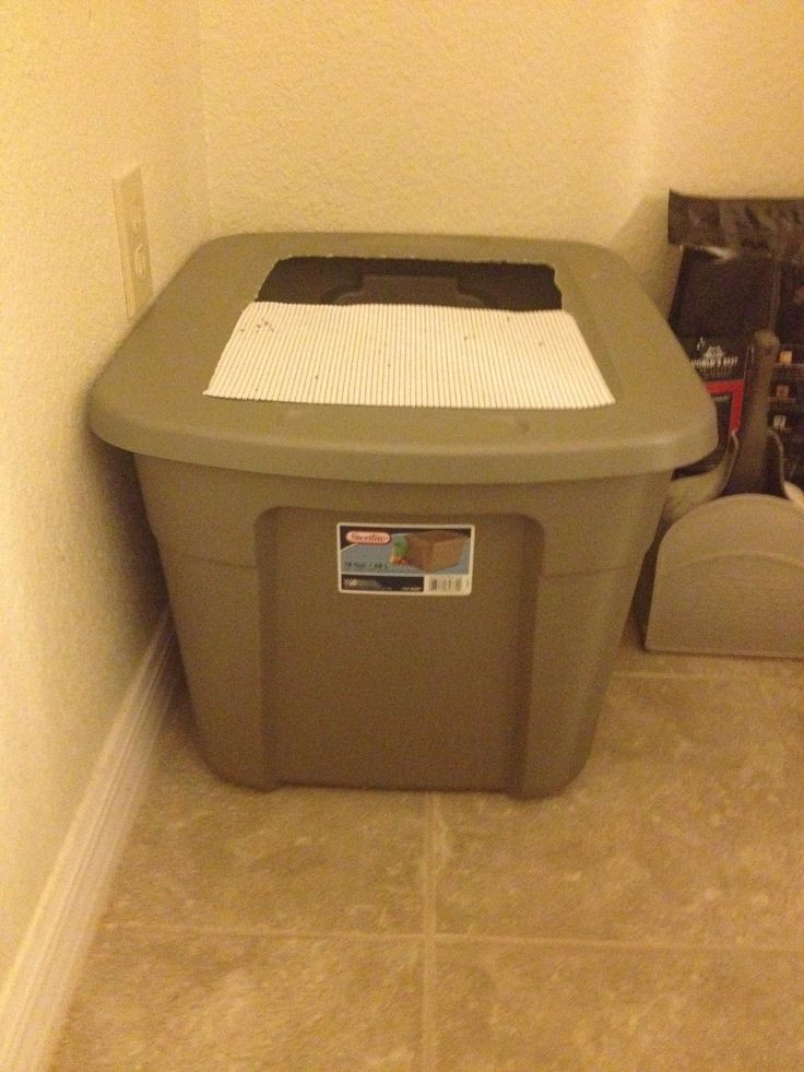 DIY Top Entry Litter Box  Pin by JoAnna Thompson on Crafty