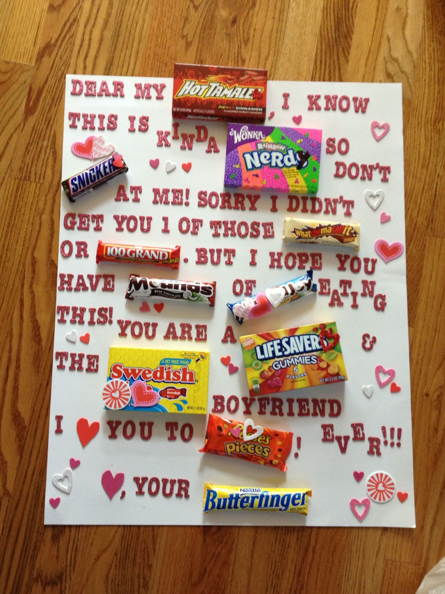 DIY Valentine'S Day Gifts For Boyfriend  What I made my boyfriend for Valentines day