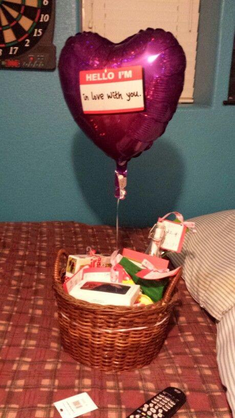 DIY Valentine'S Day Gifts For Boyfriend  Valentine s Day t basket for my boyfriend His favorite