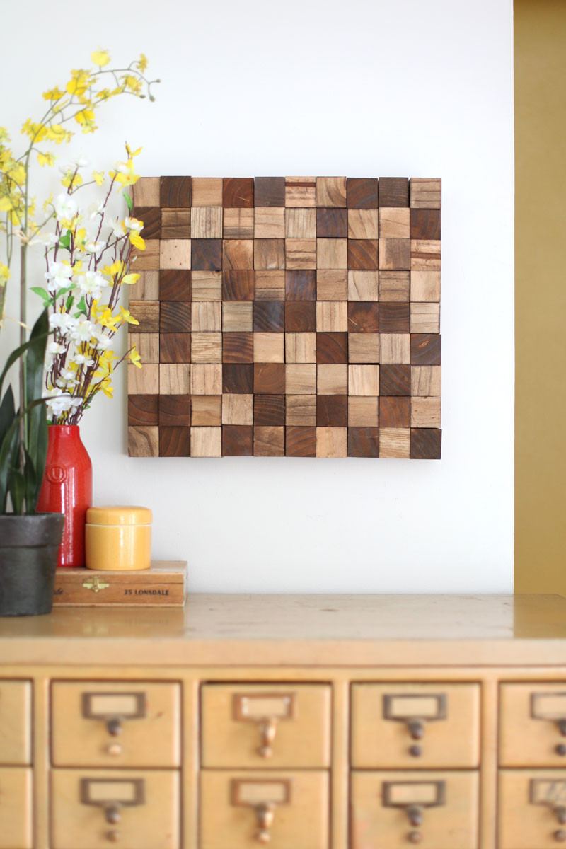 DIY Wood Art Projects  Wooden Mosaic Wall Art DIY – A Beautiful Mess