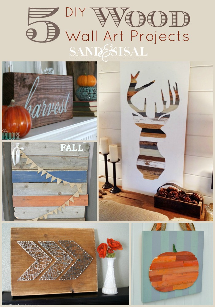DIY Wood Art Projects  DIY Wood Wall Art Projects Sand and Sisal