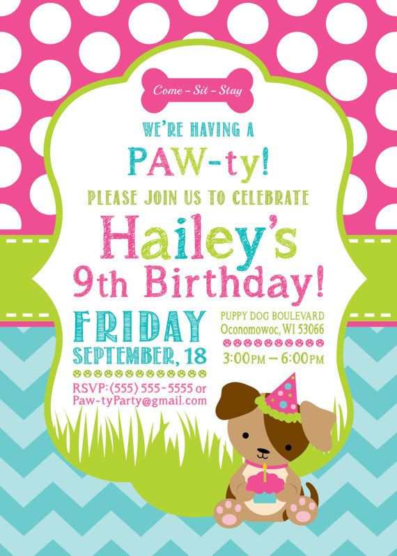 Dog Birthday Invitations  Best 25 Dog birthday parties ideas on Pinterest