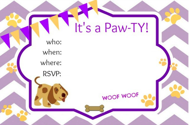 Dog Birthday Invitations  Puppy Party Ideas About A Mom