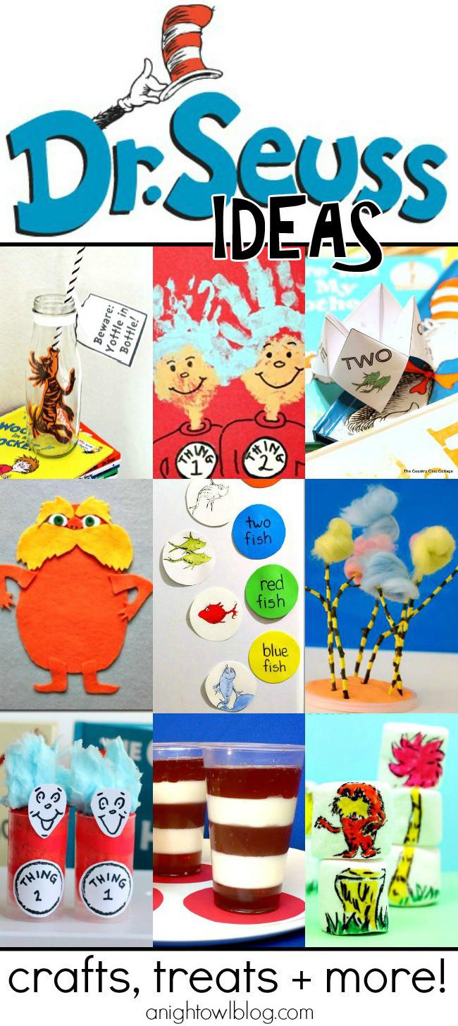 Dr Seuss Craft Ideas For Preschoolers  Dr Seuss crafts